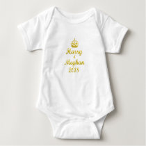 Prince Harry and Meghan Markle Baby Bodysuit
