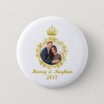Prince Harry and Meghan Markle Button