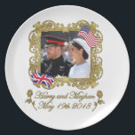 "Prince Harry and Meghan Markle Royal Wedding Dinner Plate<br><div class=""desc"">Prince Harry and Meghan Markle Royal Wedding</div>"