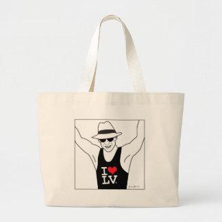 Prince Harry Loves Las Vegas Large Tote Bag