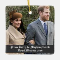 Prince Harry & Meghan Markle Royal Wedding 2018 Ceramic Ornament