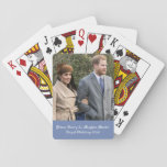 """Prince Harry &amp; Meghan Markle Royal Wedding 2018 Playing Cards<br><div class=""""desc"""">Prince Harry &amp; Meghan Markle Royal Wedding 2018      image source: https://en.wikipedia.org/wiki/Prince_Harry#/media/File:Prince_Harry_and_Meghan_Markle.jpg</div>"""