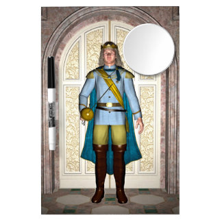 Prince in Fairytale Palace Dry Erase Board With Mirror