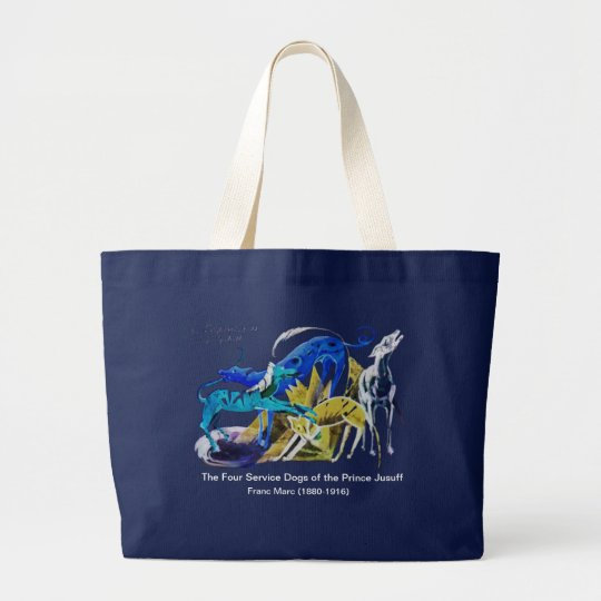 Prince Jusuff's Service Dogs Large Tote Bag