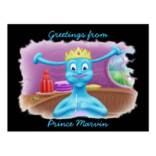 Prince Marvin at Brita's Shop Postcard