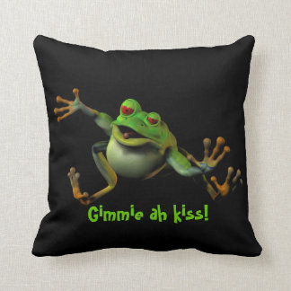 Prince Of A Frog? Throw Pillows