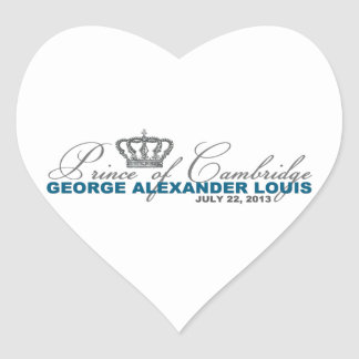 Prince of Cambridge: George Alexander Louis Heart Sticker