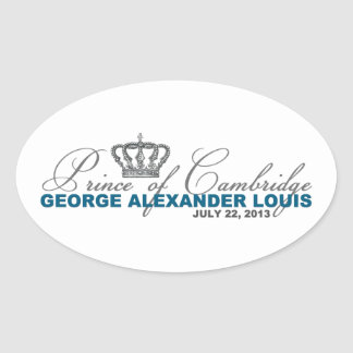 Prince of Cambridge: George Alexander Louis Oval Sticker