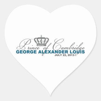 Prince of Cambridge: George Alexander Louis Heart Sticker