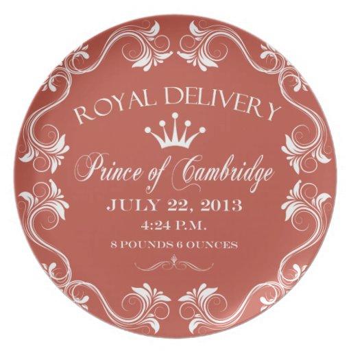 Prince of Cambridge Souvenir Plate 2013