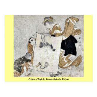 Prince of high by Teisai, Hokuba Ukiyoe Postcard