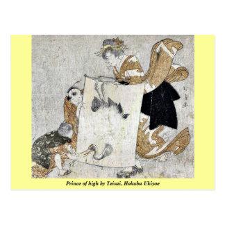 Prince of high by Teisai, Hokuba Ukiyoe Postcards