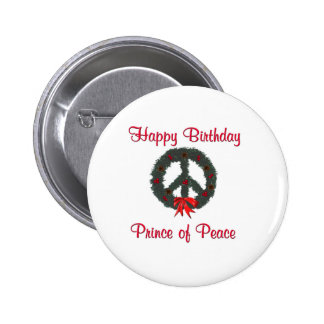 Prince of Peace Wreath 2 Inch Round Button
