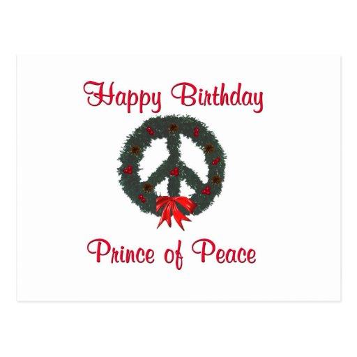 Prince of Peace Wreath Postcard