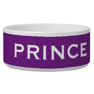 Prince of Pooches Special Funny Male Dog Name Bowl