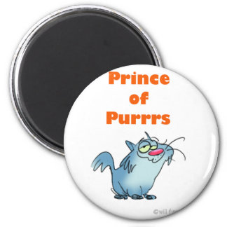 PRINCE OF PURRRS 2 INCH ROUND MAGNET
