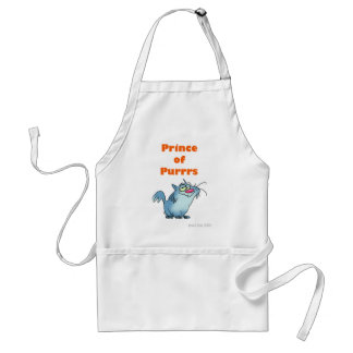PRINCE OF PURRRS ADULT APRON