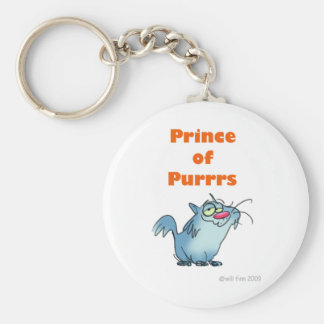 PRINCE OF PURRRS BASIC ROUND BUTTON KEYCHAIN