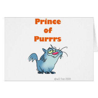 PRINCE OF PURRRS CARD