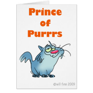PRINCE OF PURRRS GREETING CARD