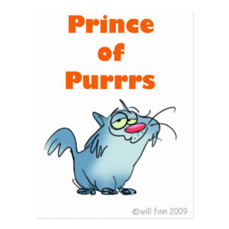 PRINCE OF PURRRS POSTCARD