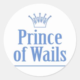 Prince of Wails / Princess of Wails v2 Classic Round Sticker