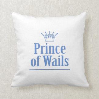 Prince of Wails / Princess of Wails v2 Throw Pillow