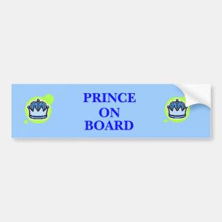 Prince On Board Car Bumper Sticker