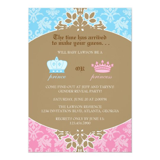 Gender Reveal Party Invitations Announcements – Invitations for Gender Reveal Party