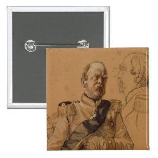 Prince Otto von Bismarck 2 Inch Square Button