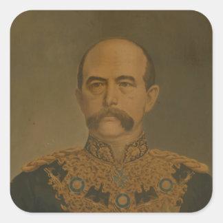 Prince Otto Von Bismarck en el uniforme del Pegatina Cuadrada