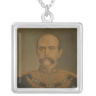 Prince Otto von Bismarck in Diplomat's Uniform Silver Plated Necklace