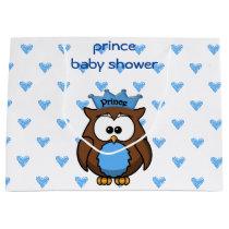 prince owl  baby shower gift bag