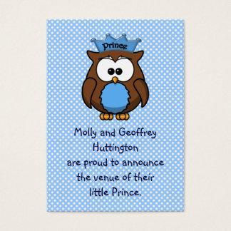 Prince owl business card