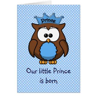 Prince owl card