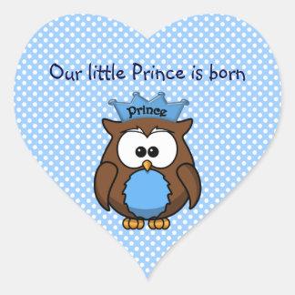 Prince owl heart sticker