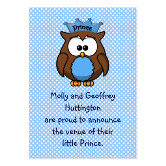Prince owl large business card