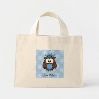 Prince owl mini tote bag