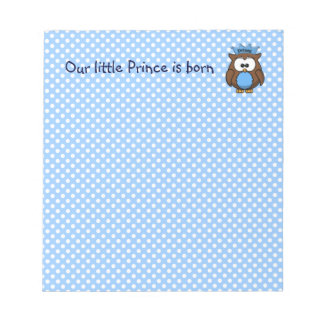 Prince owl note pads