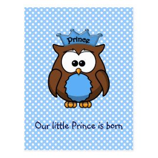 Prince owl postcard
