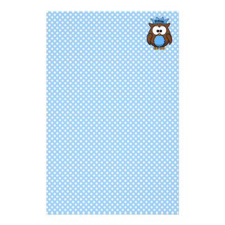 Prince owl personalized stationery