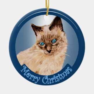 Prince Pan Pan  Cat  Christmas Ornament