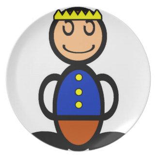 Prince (plain) melamine plate