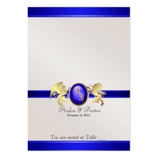 Prince & Princess Blue Jewel Table Placecard Large Business Card
