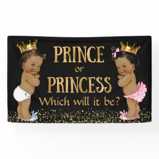 Prince Princess Gender Reveal Baby Shower Banner