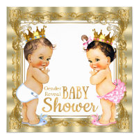 Prince Princess Gender Reveal Baby Shower Invitation