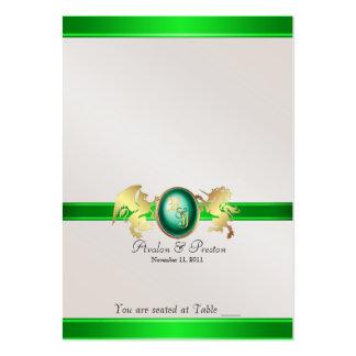 Prince & Princess Green Jewel Table Placecard Large Business Card