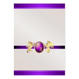 Prince & Princess Purple Jewel Table Placecard 2 Large Business Card