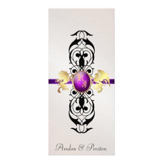 Prince & Princess Purple Jewel Wedding Program