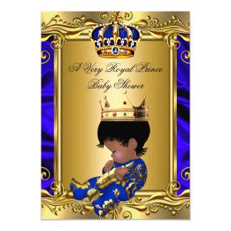 Prince Royal Blue Baby Shower Regal Gold Boy 2 Card
